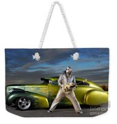 Silver Elvis Weekender Tote Bag