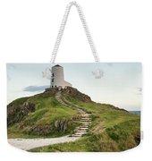Stunning Summer Landscape Image Of Lighthouse On End Of Headland Weekender Tote Bag