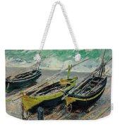Three Fishing Boats Weekender Tote Bag