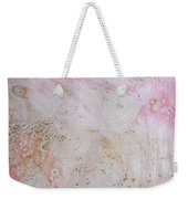 11. V2 Pink And Cream Texture Glaze Painting Weekender Tote Bag