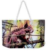 11452 Red Squirrel Sketch Square Weekender Tote Bag
