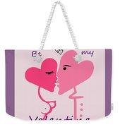 1198  Be My Valentine V Weekender Tote Bag