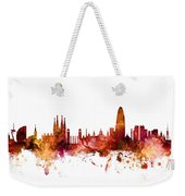 Barcelona Spain Skyline Weekender Tote Bag
