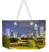 Downtown Of Charlotte  North Carolina Skyline Weekender Tote Bag