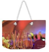 Party Setting With Colorful Bokeh Background Weekender Tote Bag