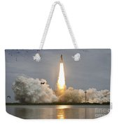 Space Shuttle Atlantis Lifts Weekender Tote Bag by Stocktrek Images