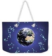 12 Zodiac Constellations Weekender Tote Bag