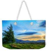 Nature Oil Canvas Landscape Weekender Tote Bag