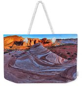 Fire Wave Panorama Weekender Tote Bag