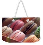 French Macaron Rainbow Weekender Tote Bag