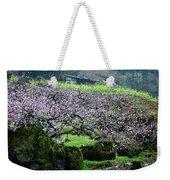 Blossoming Peach Flowers In Spring Weekender Tote Bag