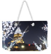 Christmas Lights Holiday Decorations Around Charlotte North Caro Weekender Tote Bag