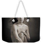 Claudia Nude Fine Art Print In Sensual Sexy Black And White Or S Weekender Tote Bag
