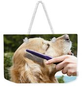 Dog Grooming Weekender Tote Bag by Photo Researchers Inc