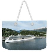 ketchikan alaska downtown of a northern USA town Weekender Tote Bag