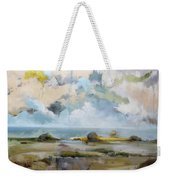 Misty Landscape Weekender Tote Bag