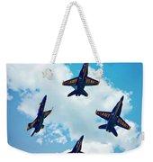 Navy Blue Angels Weekender Tote Bag
