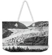 Panoramic View Of Mendenhall Glacier Juneau Alaska Weekender Tote Bag