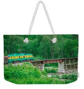 Scenic Train From Skagway To White Pass Alaska Weekender Tote Bag