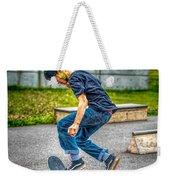 skate park day, Skateboarder Boy In Skate Park, Scooter Boy, In, Skate Park Weekender Tote Bag
