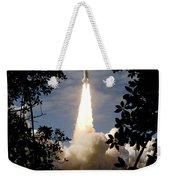 Space Shuttle Atlantis Lifts Weekender Tote Bag
