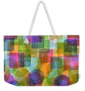 Befriended Squares And Bubbles Weekender Tote Bag