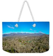 Aerial View On Mountains And Landscape Covered In Snow Weekender Tote Bag