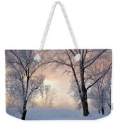 Amazing Landscape With Frozen Snow Covered Trees At Sunrise   Weekender Tote Bag