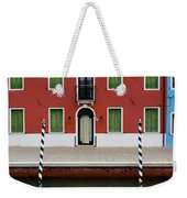 Burano Anisland Of Multi Colored Homes On Canals North Of Venice Italy Weekender Tote Bag