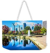 Charlotte North Carolina Cityscape During Autumn Season Weekender Tote Bag