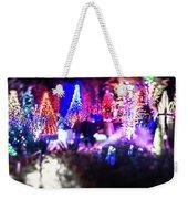 Christmas Light Bokeh At Daniel Stowe Gardens Belmont North Caro Weekender Tote Bag