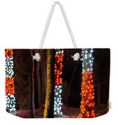 Christmas Season Decorations And Lights At Gardens Weekender Tote Bag