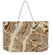 New York City Street Map Weekender Tote Bag