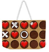 Tic Tac Toe Wooden Board Generated Seamless Texture Weekender Tote Bag