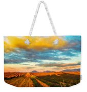Landscape Drawing Nature Weekender Tote Bag