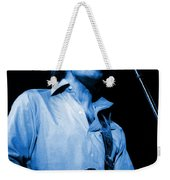 #15 Enhanced In Blue Weekender Tote Bag