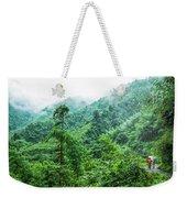 Mountain Scenery In Mist Weekender Tote Bag