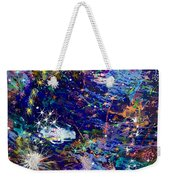 16-1 Blue Space Weekender Tote Bag