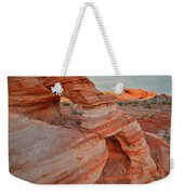 First Light On Valley Of Fire Weekender Tote Bag