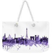 Paris France Skyline Weekender Tote Bag