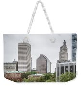 Providence Rhode Island City Skyline In October 2017 Weekender Tote Bag