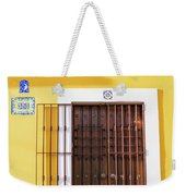 Wooden Door In Old San Juan, Puerto Rico Weekender Tote Bag