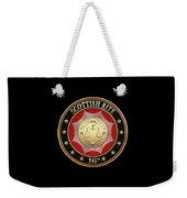16th Degree - Prince Of Jerusalem Jewel On Black Leather Weekender Tote Bag