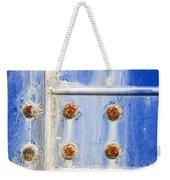 Blue Metal Weekender Tote Bag