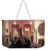 Jlm-1820-henry Sargent-the Dinner Party Henry Sargent Weekender Tote Bag