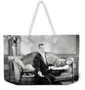 Silent Film Still: Couples Weekender Tote Bag