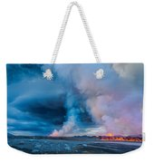 Volcano Eruption At The Holuhraun Weekender Tote Bag
