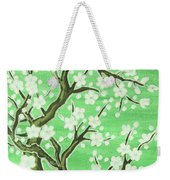 White Tree In Blossom, Painting Weekender Tote Bag