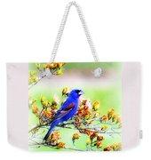 1795 - Blue Grosbeak Weekender Tote Bag
