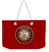 17th Degree - Knight Of The East And West Jewel On Red Leather Weekender Tote Bag